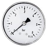 1 STÜCK 1/4'NPT Manometer Hochpräzise Meter 0-6 bar Für kraftstoff Luft Öl Wasser