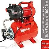 Grizzly Hauswasserwerk 800 Watt - Wasserpumpe - Ansaugtiefe 8 m - max. 3,8 bar Förderdruck – 3000...