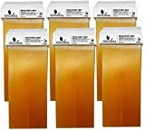 Dermawax 6x Roll on Wax Honig Wachs Warmwachs à 100 ml Roll-on Wachspatronen, Warmwachspatronen...