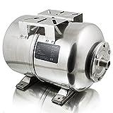 BITUXX® Edelstahl Membrankessel 24L Druckkessel Hauswasserwerk Kessel inkl Membran 1 Zoll Anschluss...